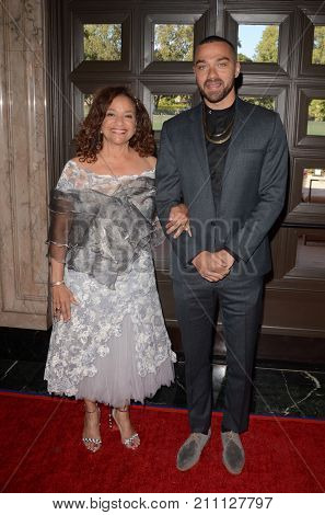 LOS ANGELES - OCT 15:  Debbie Allen, Jesse Williams at the