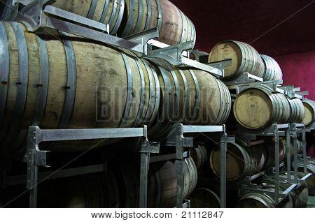 Barrels Of Wine In Argentina