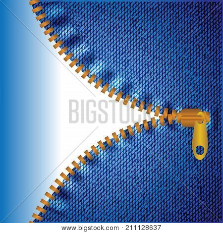 colorful illustration with blue jeans denim background