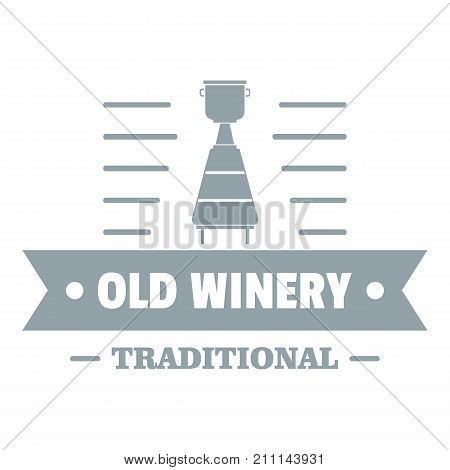 Old winery logo. Simple illustration of old winery vector logo for web