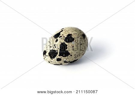 a quail egg on a white background, a quail's egg,