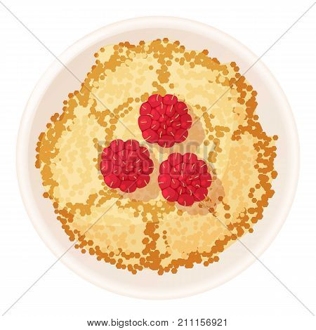Bulk pie icon. Cartoon illustration of bulk pie vector icon for web