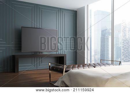 Gray Living Room, Tv Set Side