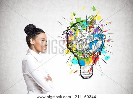African American Businesswoman, Business Idea