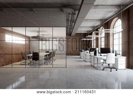 Brick Office, Arch Windows