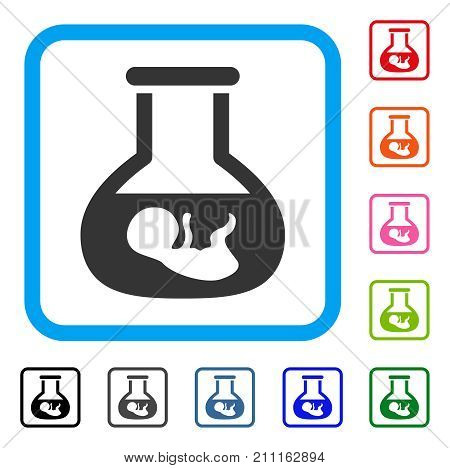 In Vitro Embryo icon. Flat gray iconic symbol in a blue rounded square. Black, gray, green, blue, red, orange color versions of In Vitro Embryo vector. Designed for web and software interfaces.