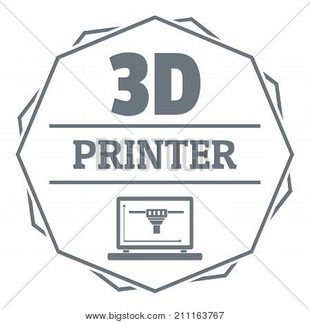 Modeling 3d printing logo. Simple illustration of modeling 3d printing vector logo for web