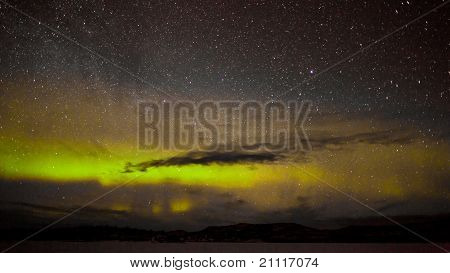 Northern lights and myriad of stars
