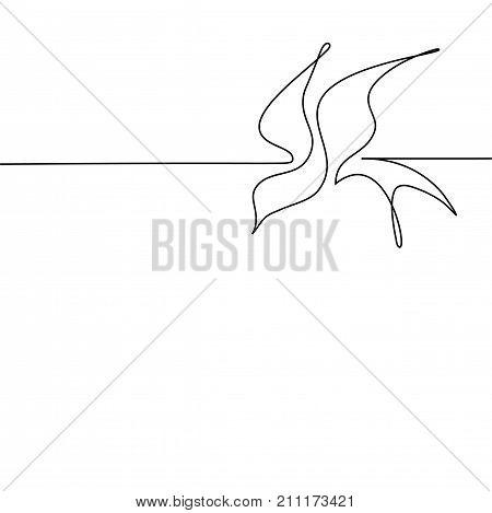 Continuous Line Bird