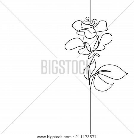 Continuous one line drawing. Flying bird logo. Black and white vector illustration. Concept for logo card banner poster flyer