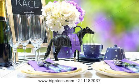Horse Racing Racing Day Luncheon Table Setting