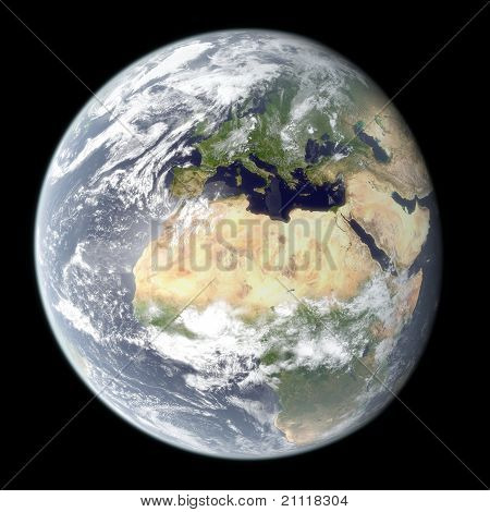 High Resolution Rendering Of Earth