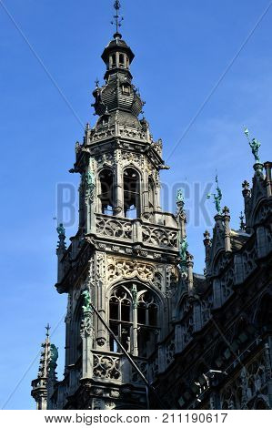 Maison Du Roi, A Neo-gothic Style Building Housing Brussels City Museum Located In Historic City Cen