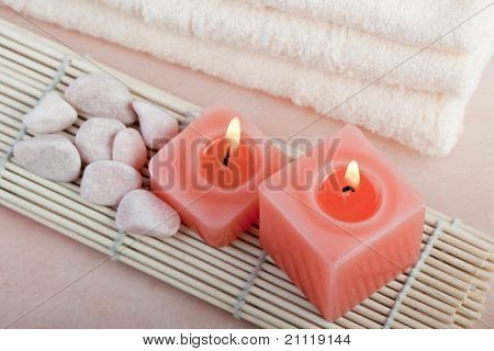 Peach Relaxing Spa Concept