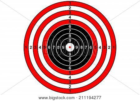 Vector target for rifle and archery on white background