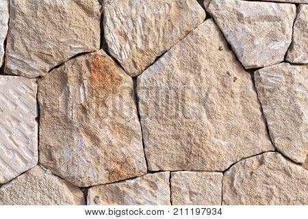 Background made of natural broken sand stone parts