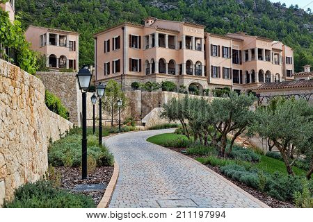 Facade Of The Expensive Hotel In Mallorca, Spain