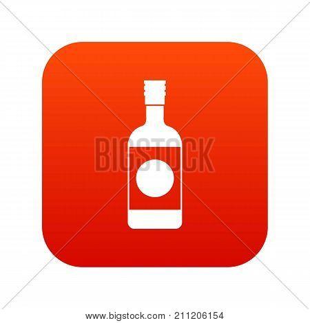 Japanese sake icon digital red for any design isolated on white vector illustration