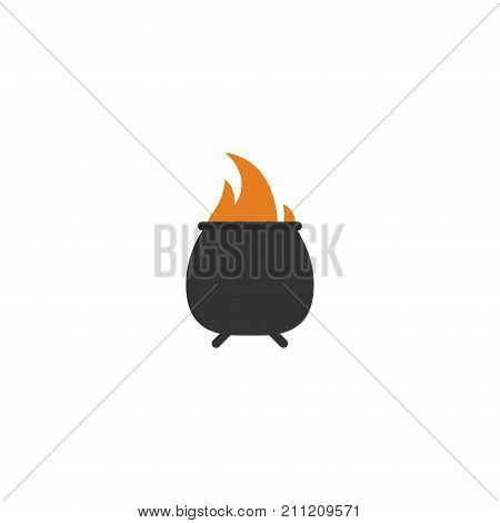 Flat Icon Fire Element. Vector Illustration Of Flat Icon Hell Isolated On Clean Background