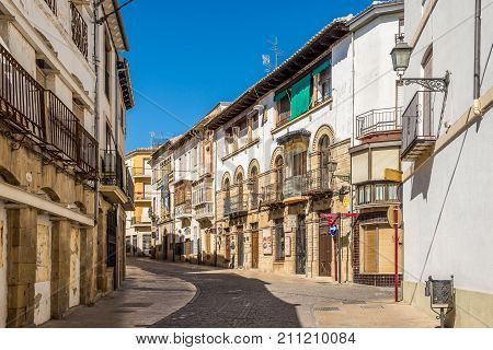 UBEDA,SPAIN - OCTOBER 2,2017 - In the streets of Ubeda. Ubeda possesses 48 monuments and more of another hundred of buildings of interest almost all of them of Renaissance style.