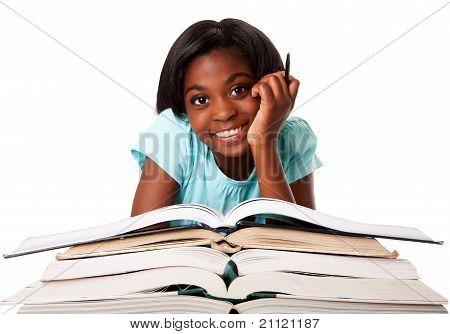 Happy Student With Homework