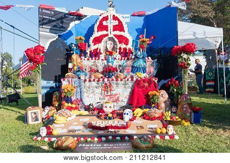 Altar To Remember The Dead During Day Of The Dead