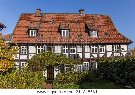 Half Timbered House In The Historic Center Of Goslar