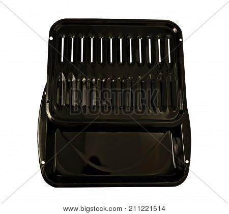 Dual pan- broil and bake pan on a white background