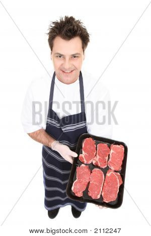 Butcher With Fresh Meat