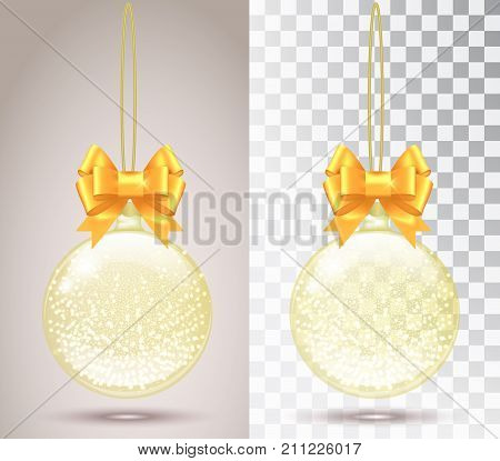 Glass Christmas Toy On A Transparent Background