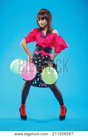 Pin-up Girl With Balloons