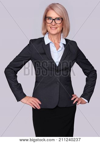 Senior Businesswoman Wearing Glasses