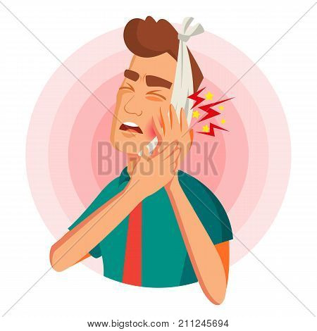 Man Toothache Vector Vector Photo Free Trial Bigstock