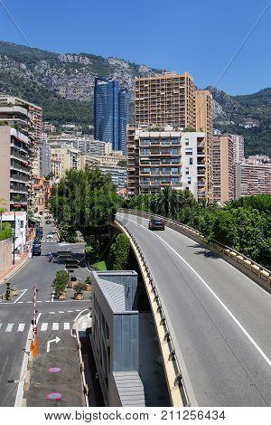 View Of Larvotto Quarter In Monte Carlo, Monaco.