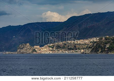 Coast of South Italy at Strait of Messina