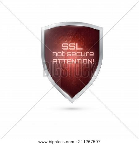 Warning  Icon.  Ssl  Connection Not Secure.