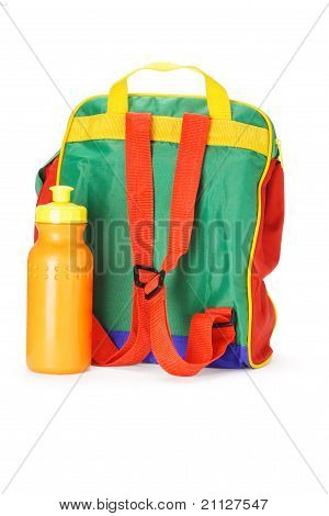 Colorful Preschooler Backpack And Water Container