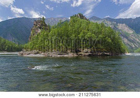 The Oka Sayanskaya River. Siberia, Russia.