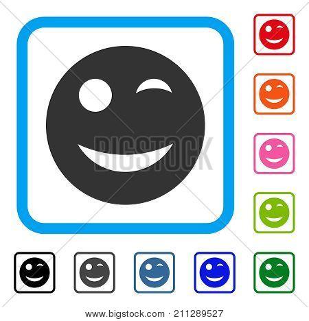 Wink Smiley Icon Vector Photo Free Trial Bigstock