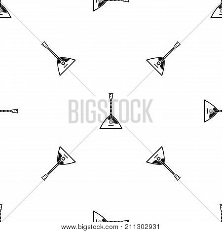 Balalaika pattern repeat seamless in black color for any design. Vector geometric illustration