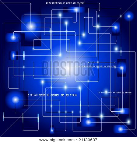 Electronic abstract vector illustration