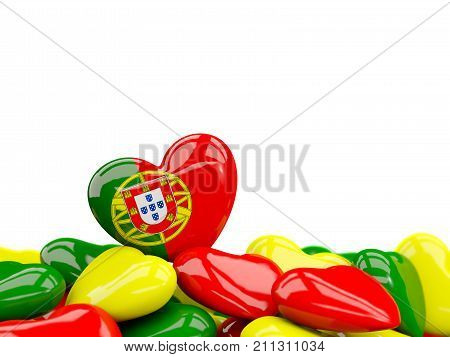 Heart With Flag Of Portugal