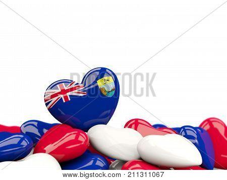 Heart With Flag Of Saint Helena