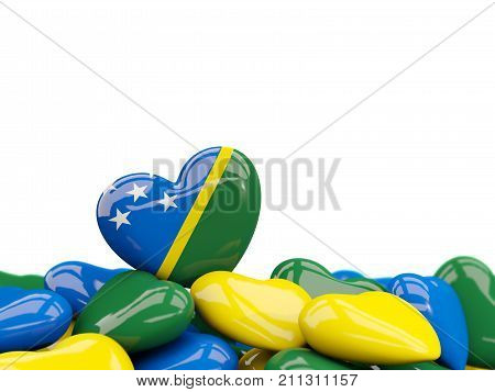 Heart With Flag Of Solomon Islands