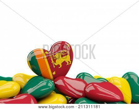 Heart With Flag Of Sri Lanka