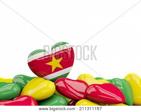 Heart With Flag Of Suriname