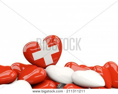 Heart With Flag Of Switzerland