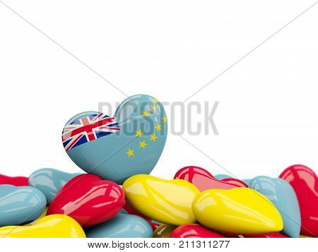 Heart With Flag Of Tuvalu