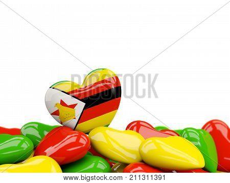 Heart With Flag Of Zimbabwe