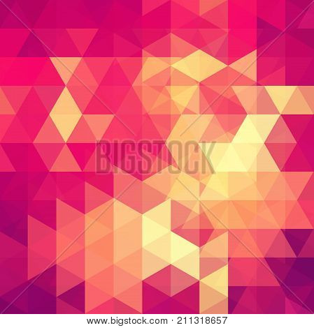 Abstract Mosaic Background. Triangle Geometric Background. Design Elements. Vector Illustration. Pin